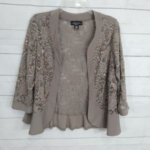 R&M Richards sequined lace cardigan 14W